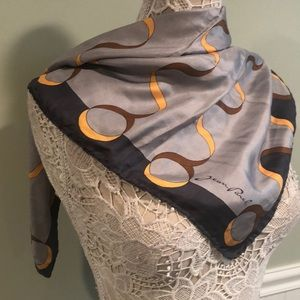 Vintage Jean Parel Silk Scarf, Hand Rolled Edges